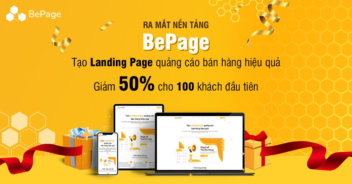 Zozo ra mắt BePage - Phần mềm thiết kế landing page quảng cáo bán hàng hiệu quả