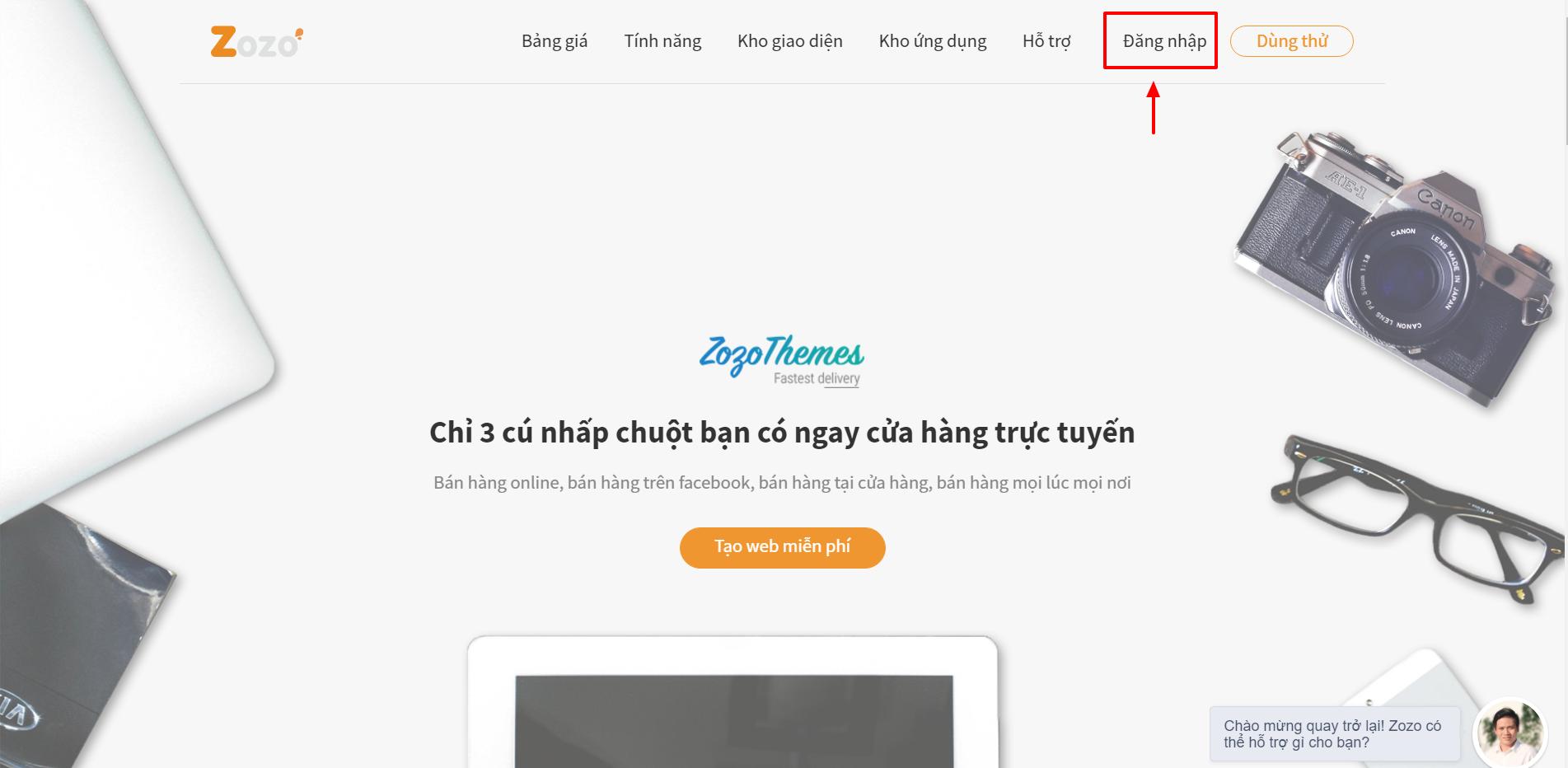 Đăng nhập trang quản trị website