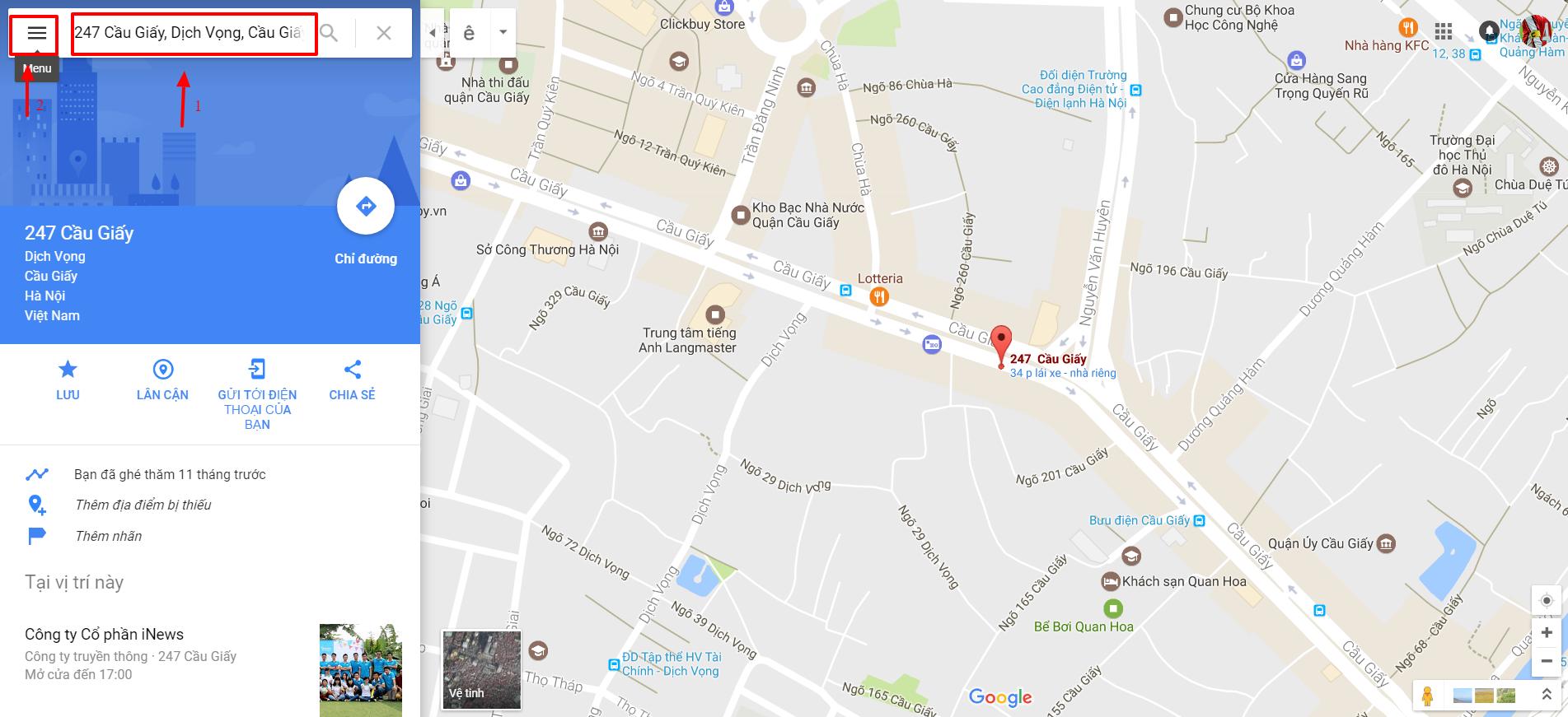 Tọa độ bản đồ