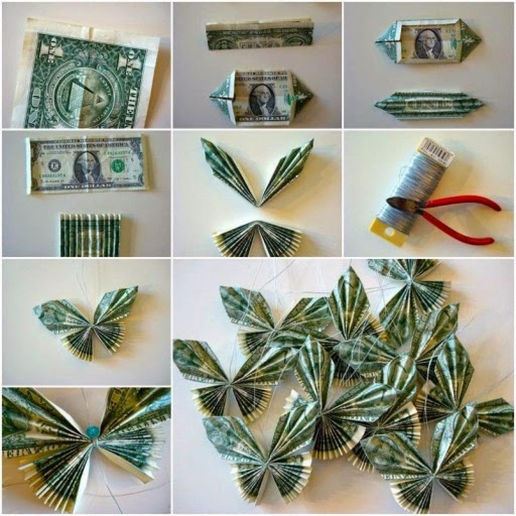 Как оформить денежный подарок на день рождения в домашних условиях фото