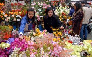Các mối nhập hoa tươi Tết 2018 tại Hà Nội
