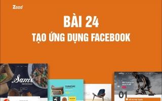 24. Tạo ứng dụng Facebook